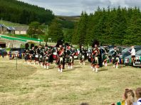 5 Pipe band at the Corgarff games